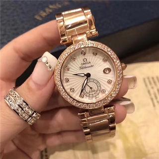 オメガ腕時計クオーツウォッチ プレゼントにピッタリ