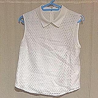 PAGEBOY襟付きホワイトノースリーブ