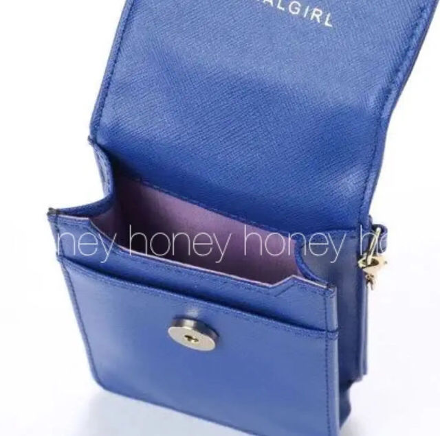 定価2,900円口紅金具付きシガレットケース青