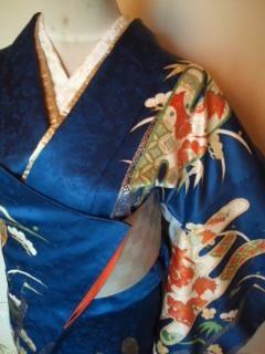 艶*ブルー雅な付下正絹袷163チョー美品レタP