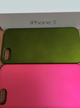 iPhone5用ペアセットピンクグリーン