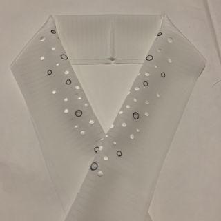 半衿  半襟  半えり  夏もの  水玉模様の刺繍 6月から