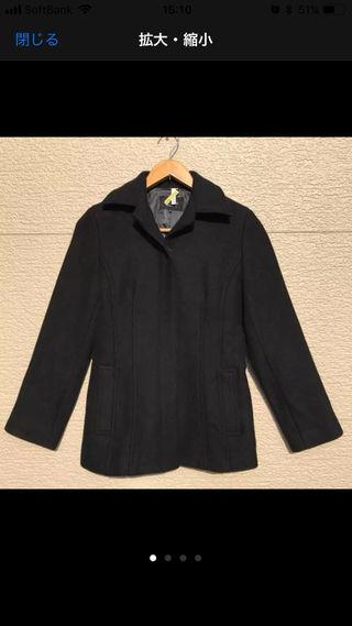 M-PREMIER コート 黒 ブラック 38