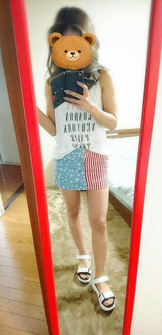 超美品 ANAP アメリカン ミニスカート