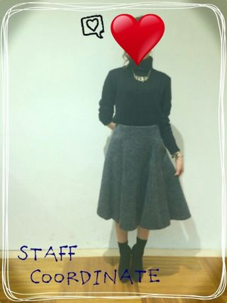 【新品】シャギーフレアミディスカート