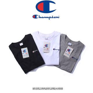チャンピオン Tシャツ 男女兼用 夏用  刺繍 3色