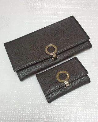 ビーゼロ2つ折り長財布とキーケースのセットブラック
