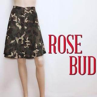 間違いなしローズバッド カモフラ ミディアムスカート
