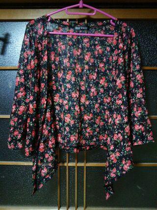 シースルー花柄ボレロ
