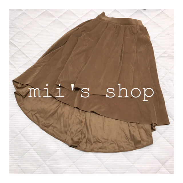 onewayスウェードラップ風スカート