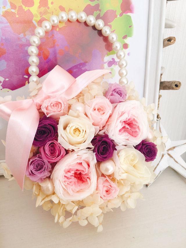 プリザーブドフラワー バッグ 花 結婚式 インテリア
