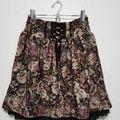 アンティ-ク調花柄&刺繍レース スカート*axes
