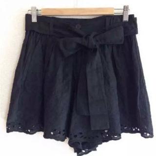 ウエストリボンのキュロットスカート