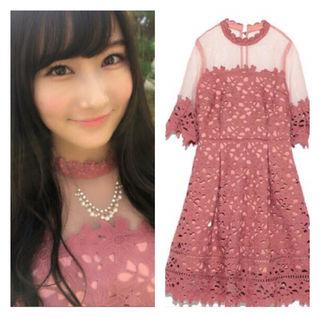 [新品同様]Lily brownレース切り替えドレス