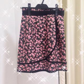 レッセパッセ 花柄 フラワー柄 スカート