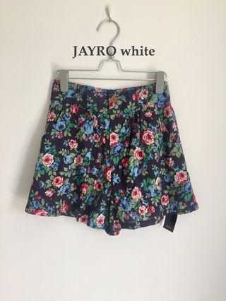 【訳あり新品】JAYRO white 花柄キュロット