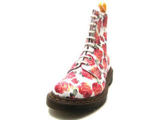 ドクターマーチン 限定 薔薇 UK5 8ホール ブーツ