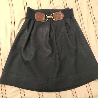 grove  ネイビースカートとベルトのセット