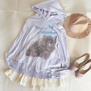 新品猫ちゃんパーカーとdazzlin刺繍レーススカート