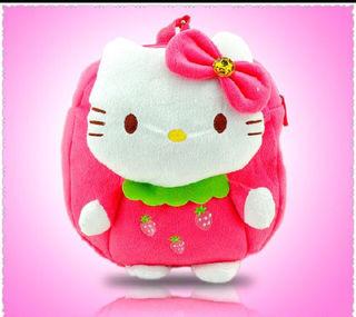 新品可愛い女の子キティちゃんリュック通園バッグ