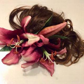 成人式髪飾りカサブランカ大輪