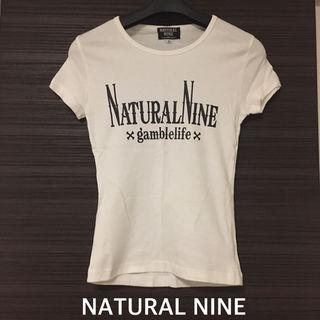 【新品】NATURAL NINEロゴTシャツ white