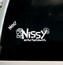 20cm カッティング ステッカー Nissy おまけ