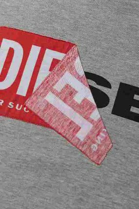 Diesel スウェット ロゴ グレー  M ディーゼル