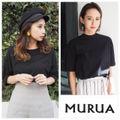定価3,132円MURUAベーシックTシャツ黒
