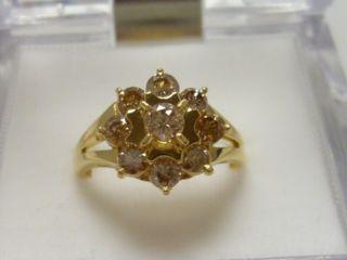 合計1.01ct K18 ゴージャスなダイヤモンドリング