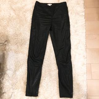 レギンス レザー素材 ブラック H&M 36サイズ
