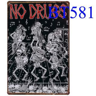ブリキ看板 NO DRUGS [BT581]