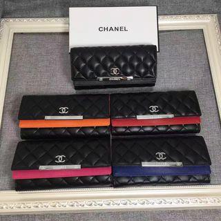 人気美品 シャネル 3つ折長財布 可愛い美品 4色可選