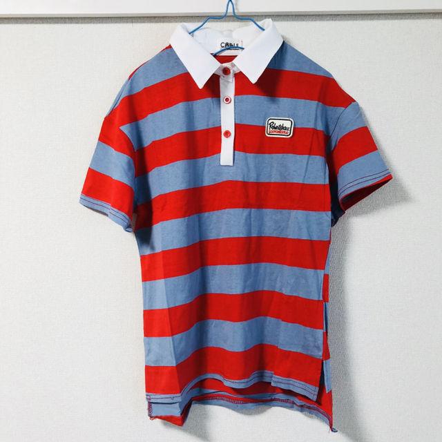 可愛い原色ポロシャツ