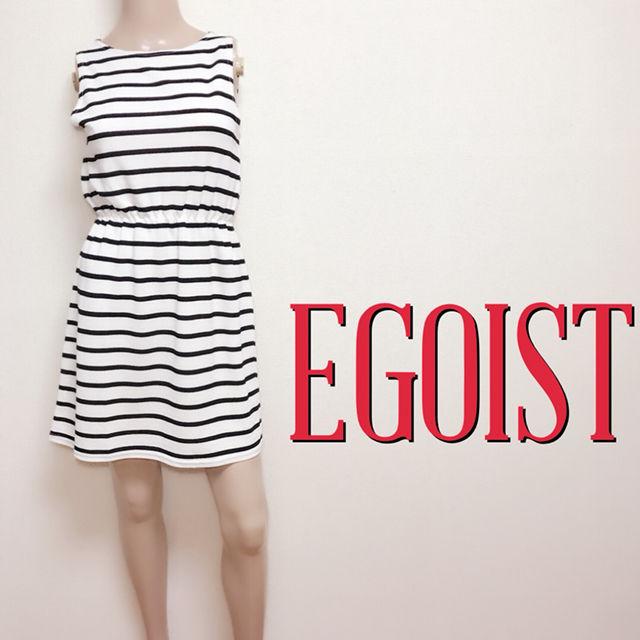 極美くびれエゴイスト カジュアルボーダーワンピース(EGOIST(エゴイスト) ) - フリマアプリ&サイトShoppies[ショッピーズ]