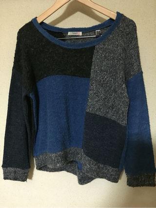 POUDOUDOUパッチワーク柄セーター