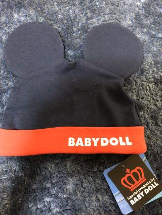 ベビードールミッキー帽子