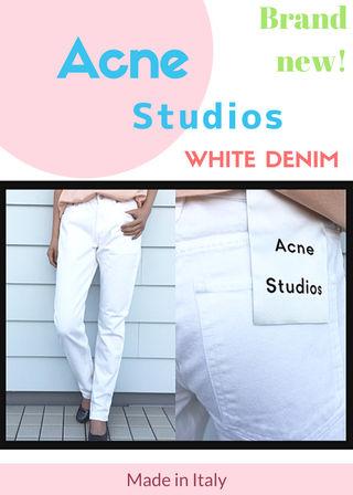 Acne studios 新品ボーイフレンド ホワイトデニム