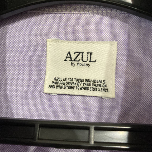 AZUL by moussy アズール シャツ 紫 パープル