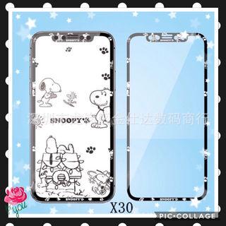 スヌーピーiPhoneX/Xs   クリアブラック