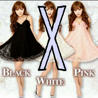 ベビードール ドレス ピンク・黒