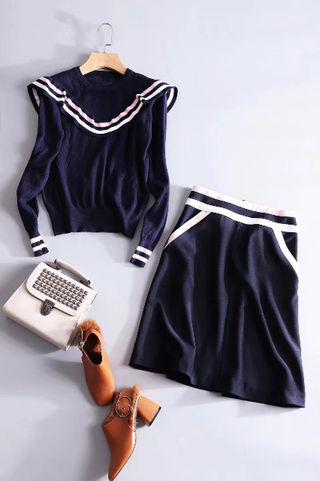 【HOT!人気暴騰!】クロエニット+スカート2点セット