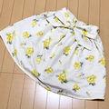 AS KNOW AZ 花柄 リボン スカート Mサイズ