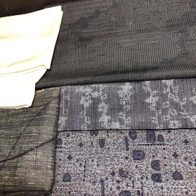 着物 反物 はぎれ 紫系1 ハンドメイド素材和装小物リメイク