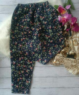 美品!ダブルクローゼットレトロ花柄×七分リラックスパンツ