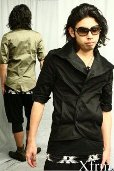 新品【Xfrm】ワイヤー入り変形五分袖テーラードジャケット