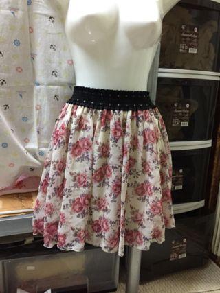 CLEF DE SOL ミニスカート 花柄