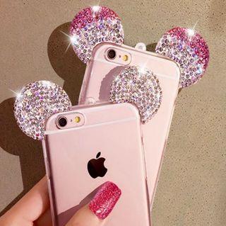 iPhone8 7 6 5 ケース キラキラ マウスケース