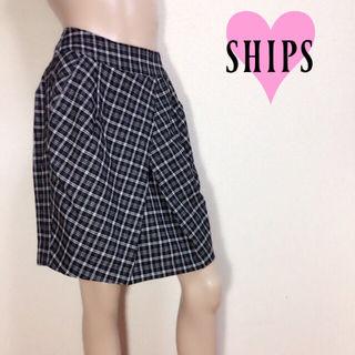 キレイ系【美品】シップスチェック柄スカート
