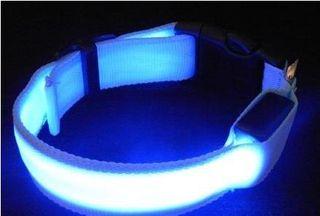 光る LED 首輪 ペット用品 発光帯  夜間の散歩 ブルー